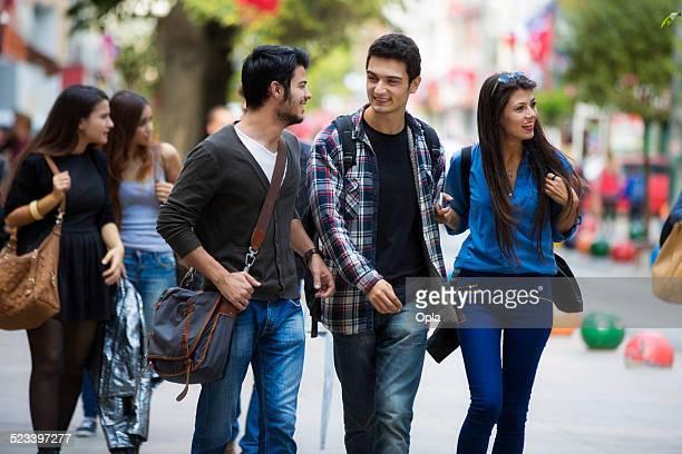 Young Turkish people on Bahariye street