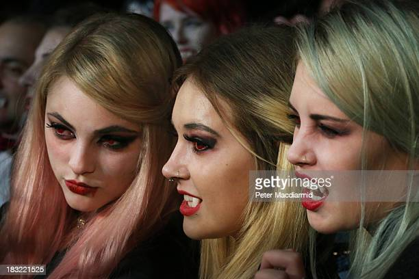 Young vampires take part in a world record attempt at the Shocktober Fest at Tulleys Farm on October 5 2013 near Crawley West Sussex Each October...