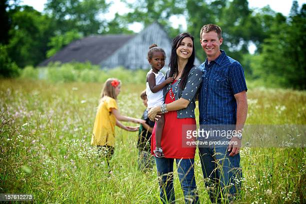 young vibrant ethnic diverse family