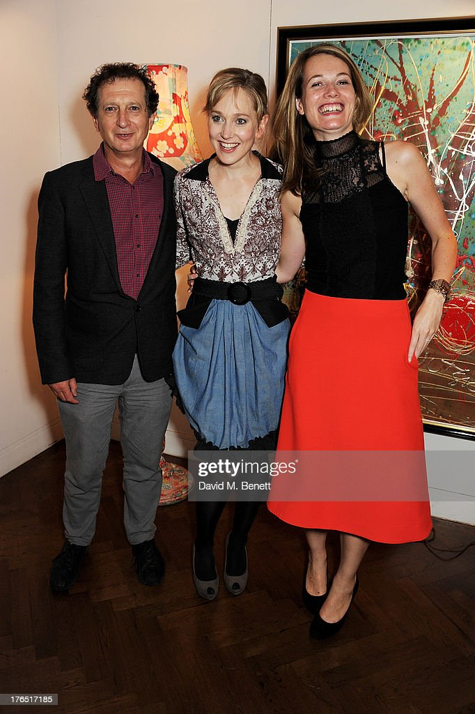 Young Vic artistic director David Lan, cast member Hattie Morahan and director Carrie Cracknell attend an after party following the press night performance of 'A Doll's House' at The Hospital Club on August 14, 2013 in London, England.