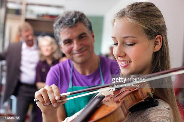 Young Violinist with First Instrument