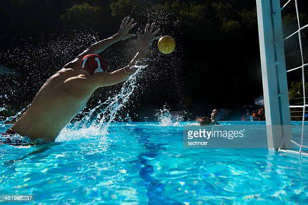 Young Waterpolo Goalie Defending
