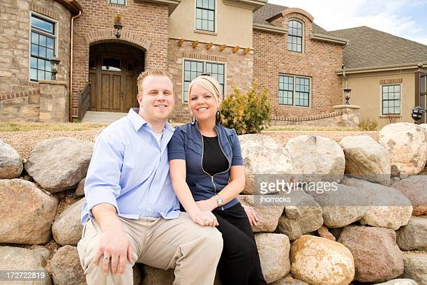 Young Wealthy Couple at Home
