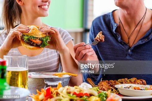 Young Woman and Burger