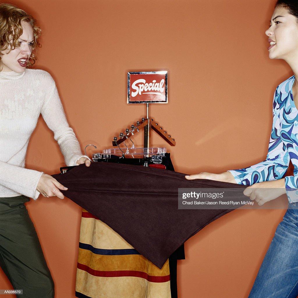 Fighting girl in skirt