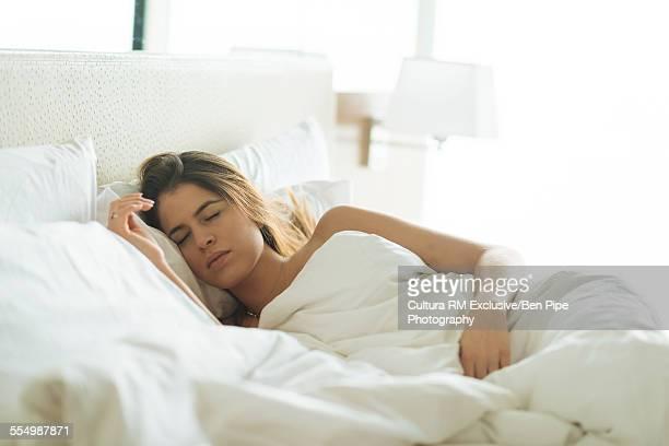 mature woman asleep naked