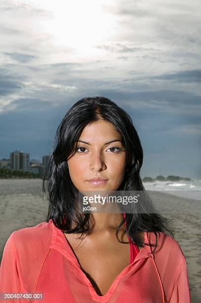 Young woman at beach, portrait