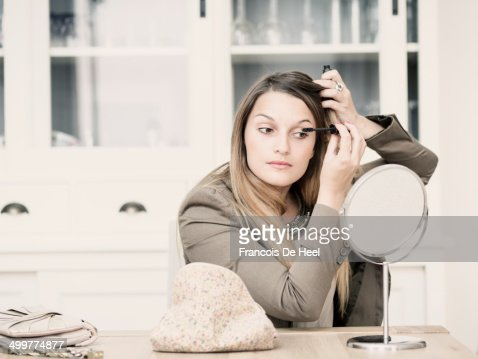 Young woman at her apartment