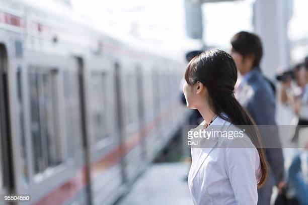 Young woman at platform