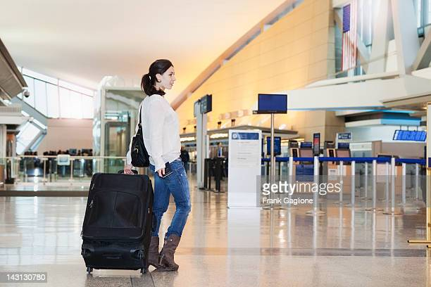 Young woman at the airport.