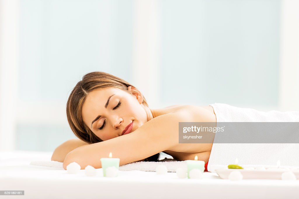 Young woman at the spa.