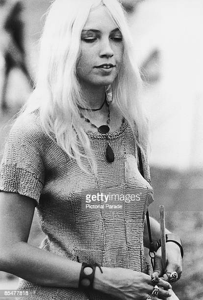 A young woman at the Woodstock Music Festival Bethel New York 15th17th August 1969
