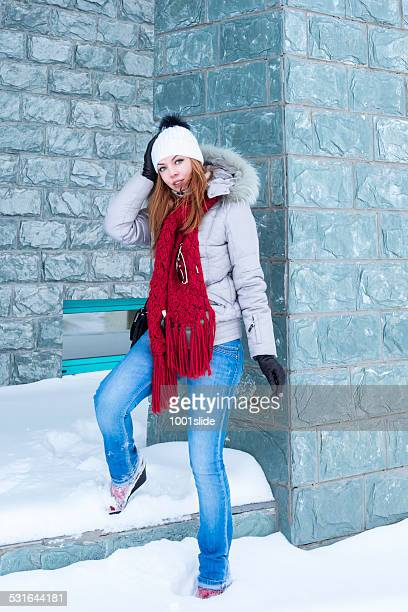 Young Woman at winter in Astana