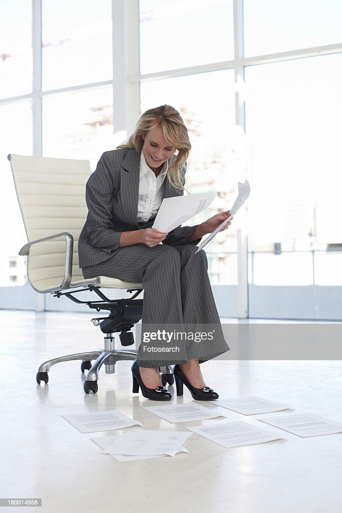 Young woman at work : Stock Photo
