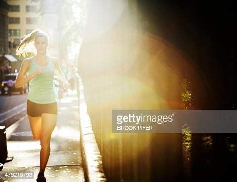 Young woman athlete running