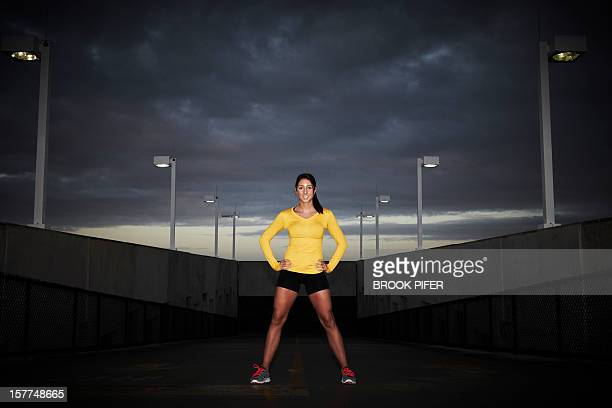 Young woman athlete standing