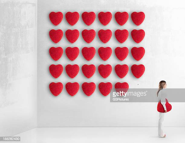Young woman choosing her true love