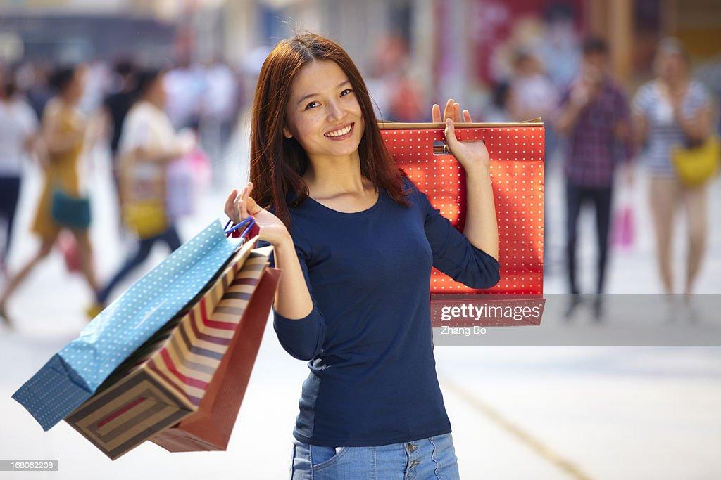 young woman chopping : Stock Photo