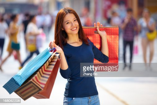 young woman chopping : Stock Photo