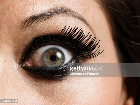 Young woman, close-up of eye : Photo