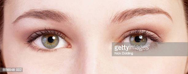 Young woman, close-up of eyes