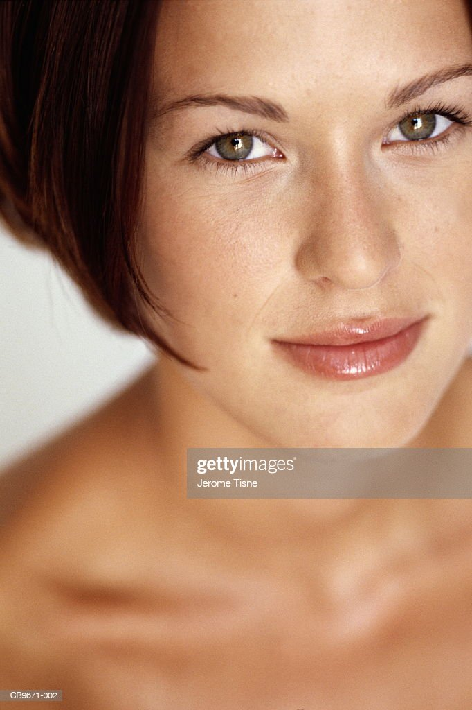 Young woman, close-up : Stock Photo