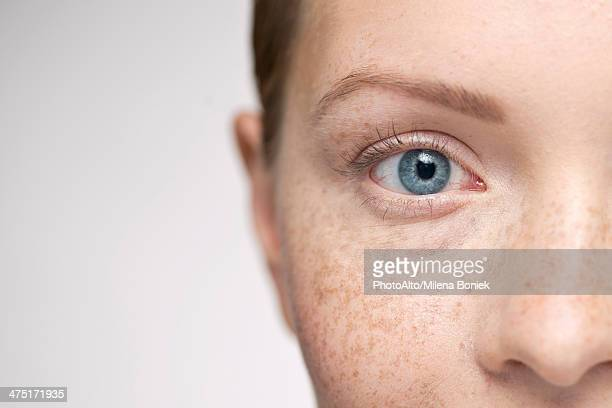 Young woman, close-up portrait