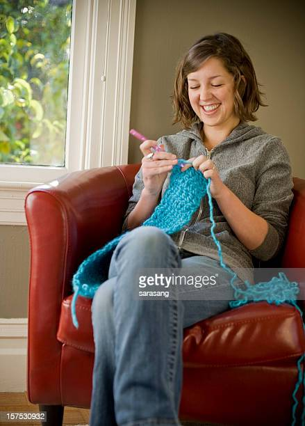 Young Woman Crochets