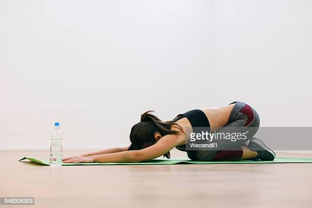 Young woman doing fitness workout