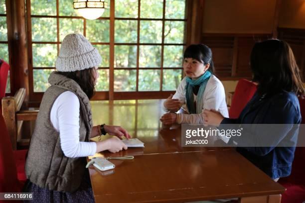 Young woman enjoying in cafe