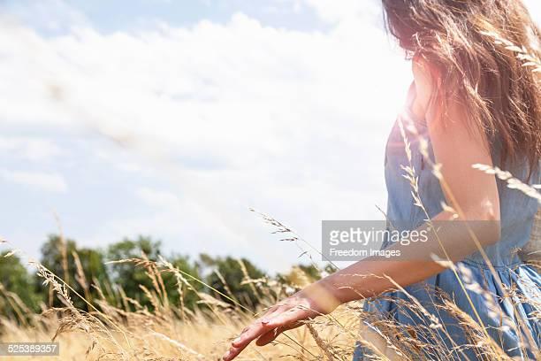 Young woman enjoying nature, Roznov, Czech Republic