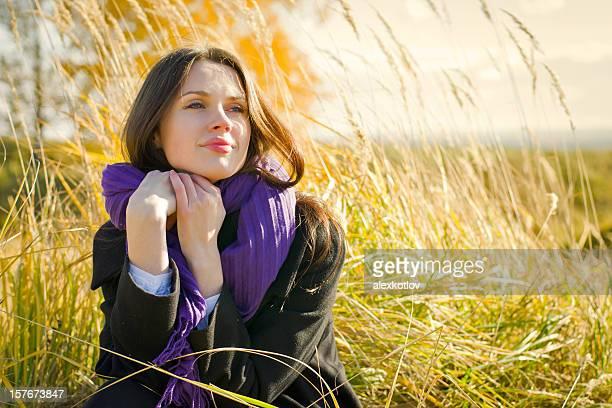 Young woman enjoying the sun