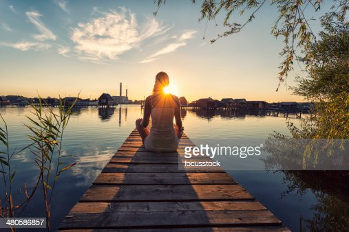 Young woman enjoying the sunset