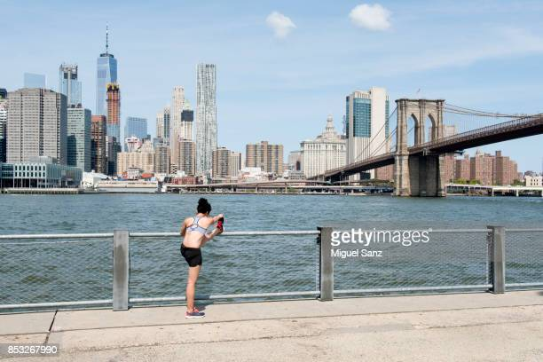 Young Woman exercising in New York