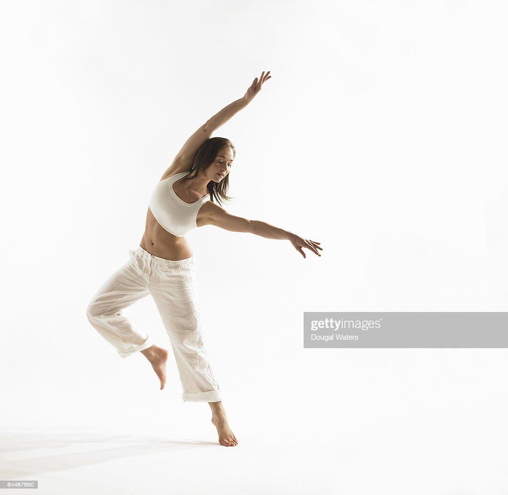 Young woman exercising. : Stock Photo