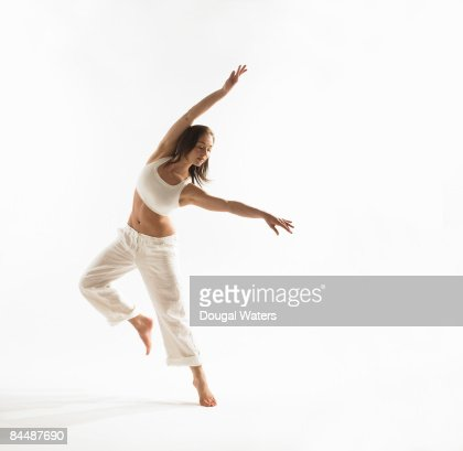 Young woman exercising. : Stockfoto