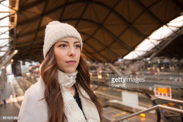 Young Woman Exploring Southern Cross Station