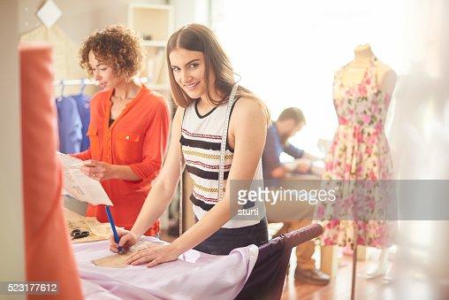 young woman fashion designer