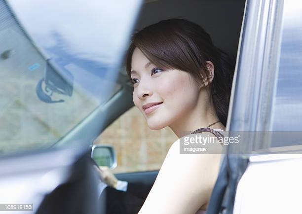 Young woman having a drive