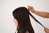 Young Woman Having Hair Set