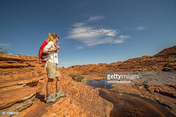 Young woman hiking in Australia