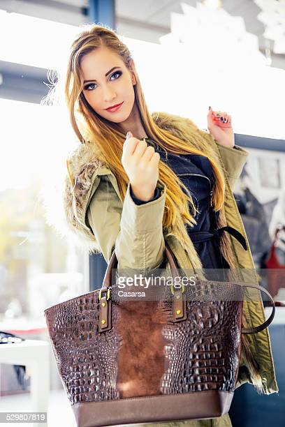 Young woman in a fashion store