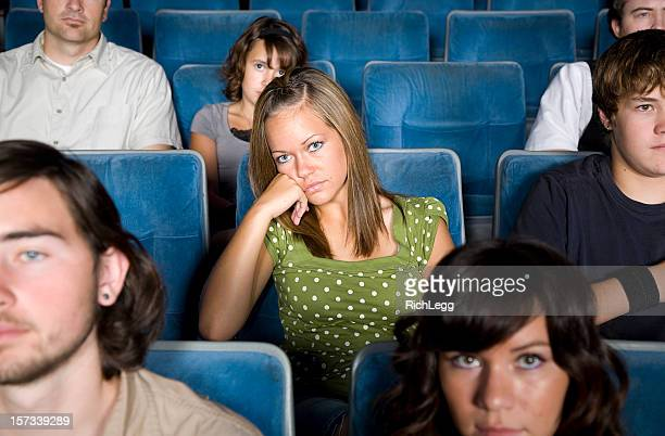 Young Woman in a Movie Theater