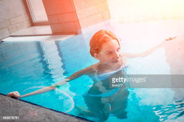 Young woman in a Spa pool