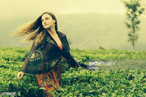 Young Woman in a Tea Plantation