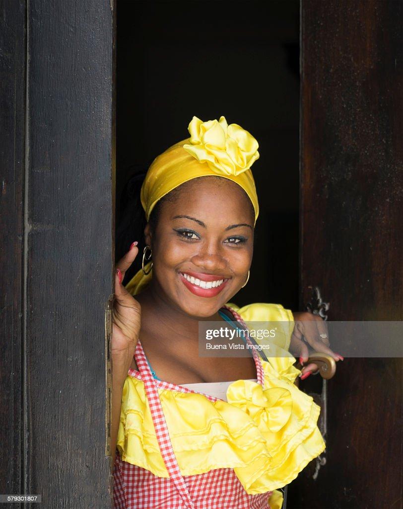 Traditional dress 1793 yellow.