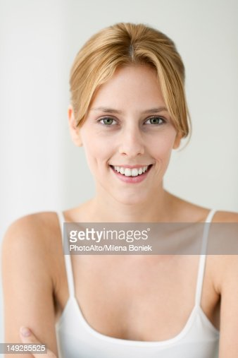 Young woman in camisole, portrait