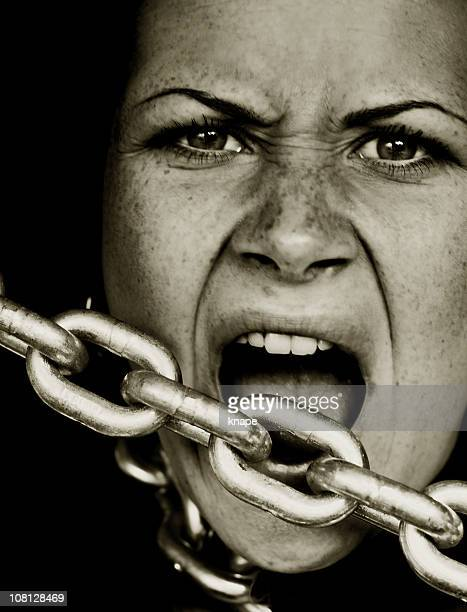 Young Woman in Chains