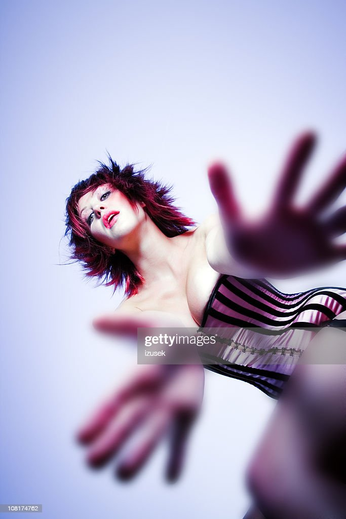 Young Woman in Corset : Stock Photo