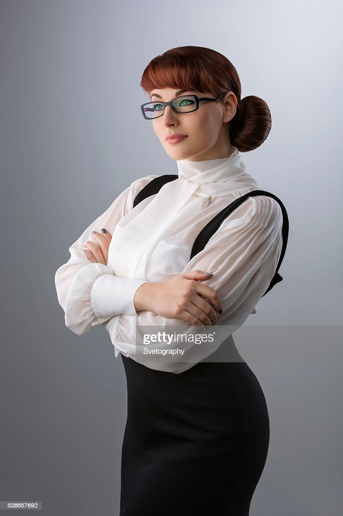 Young woman in glasses : Stock Photo